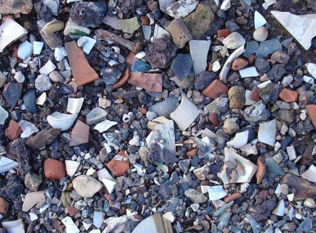 London's rubbish on Kent beach