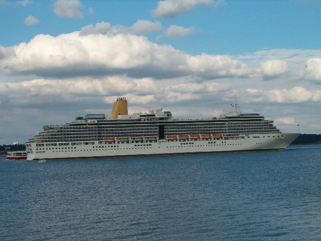 The new Arcadia in the Solent.
