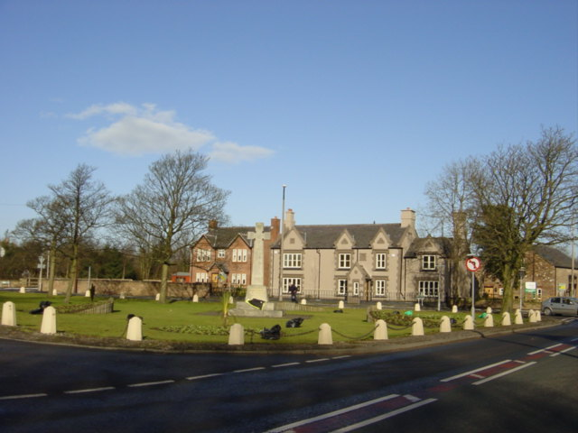 Village Green and War Memorial, Knowsley
