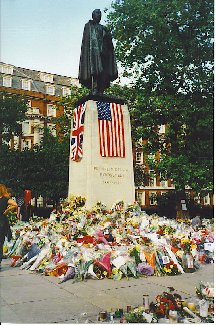 Franklin Delano Roosevelt Memorial, Grosvenor Square.