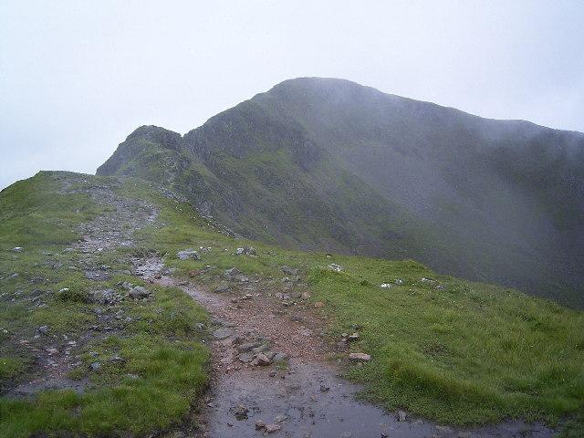 Sgurr nam Fiannaidh from the Aonach Eagach ridge