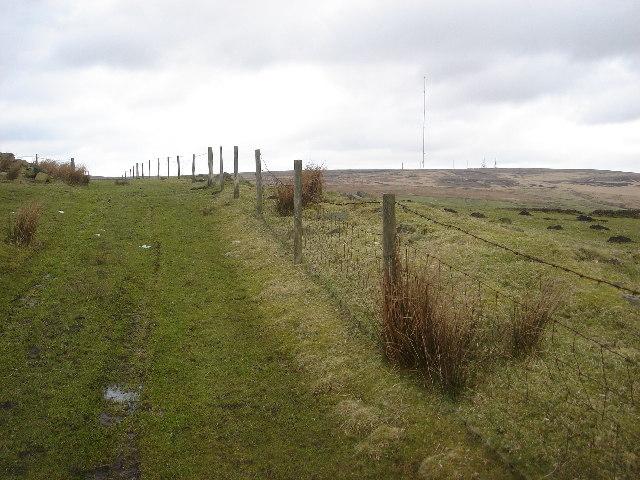 Moorland path off Matchmoor Lane