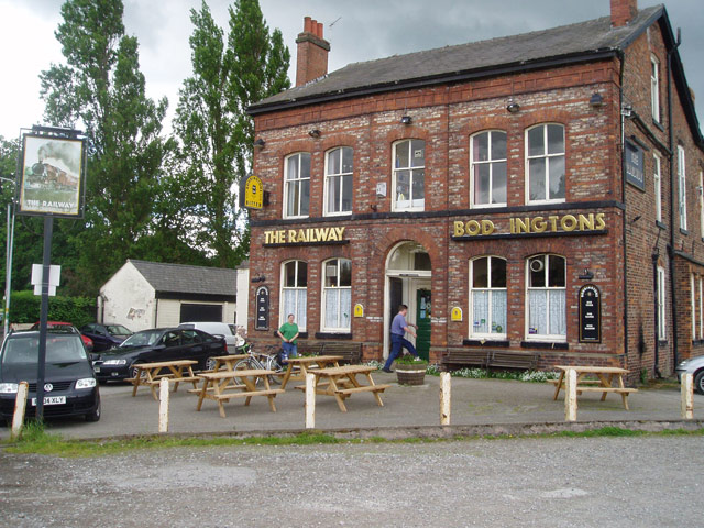 """The Railway"" pub at Heatley"