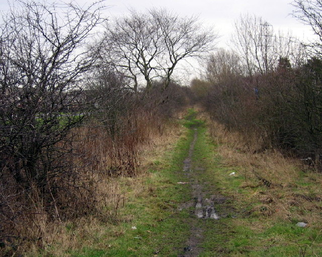 Footpath on the route of the Stockton to Darlington Railway