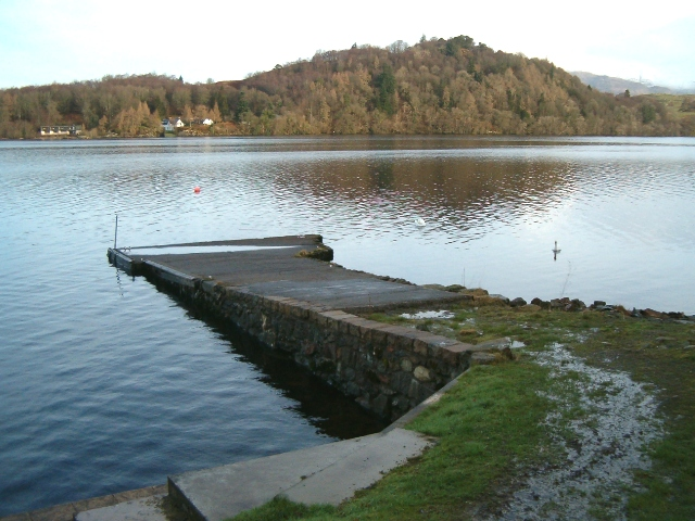 Pier at South Port on Loch Awe