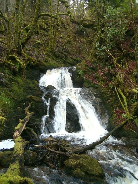 Waterfall on the Allt-an-Eireannaich