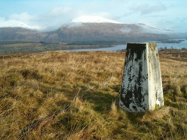 Triangulation pillar at Tom nan Freumh