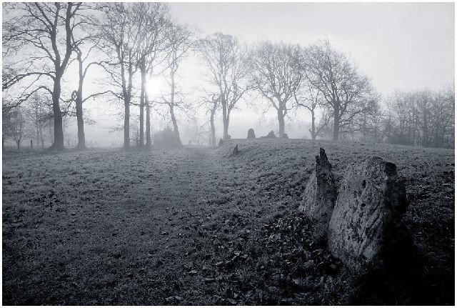 Waylands Smithy on a foggy morning