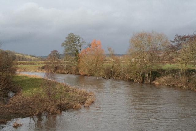 Thorverton: river Exe