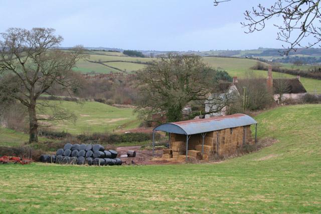Shobrooke: barn near Shobrooke Barton