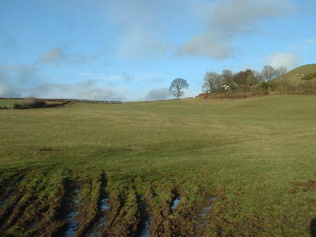 Farmland near Crooklands