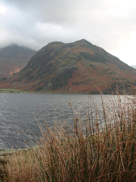 Rannerdale Knotts from the shore of Crummock Water