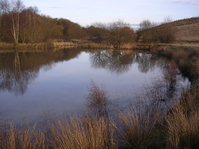 Loch at disused Cardowan Fireclay Works
