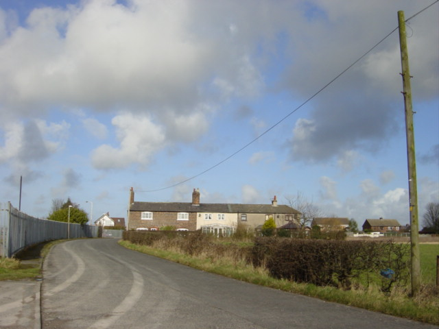 Cottages on Sidings Lane, Simonswood