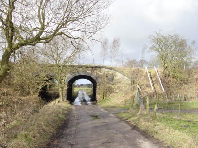 Railway Bridge near Barrow Nook Hall, Simonswood