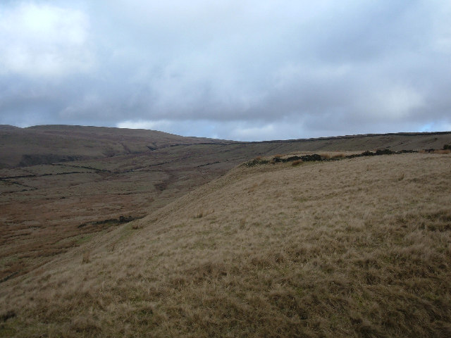 Knowl Moor's north-western flank