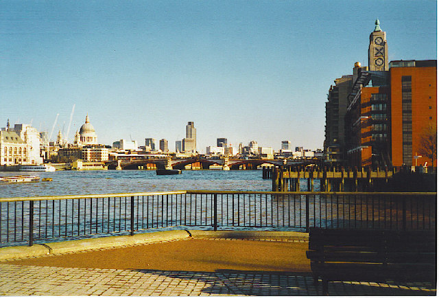 The Thames, Blackfriars Bridge and the Oxo Tower.