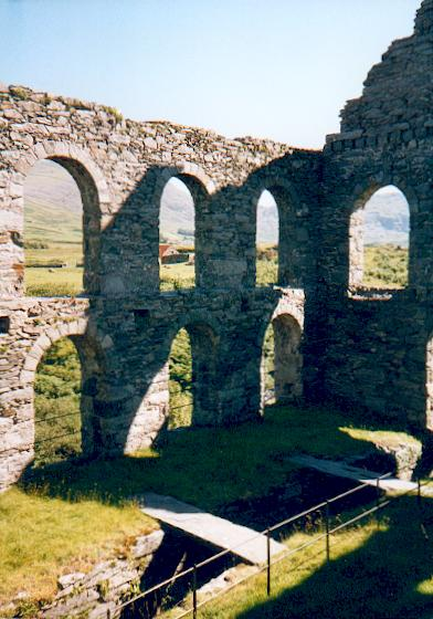 Old Slate Works near Dolbenmaen
