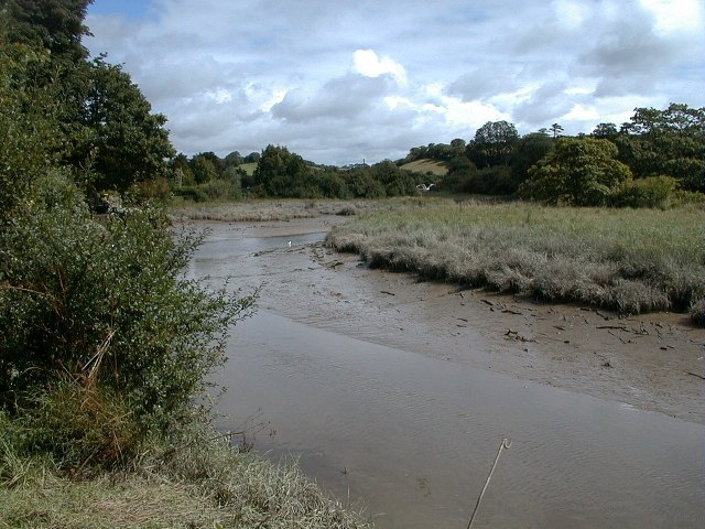 The Tresillian River, tributary of the Truro River Cornwall