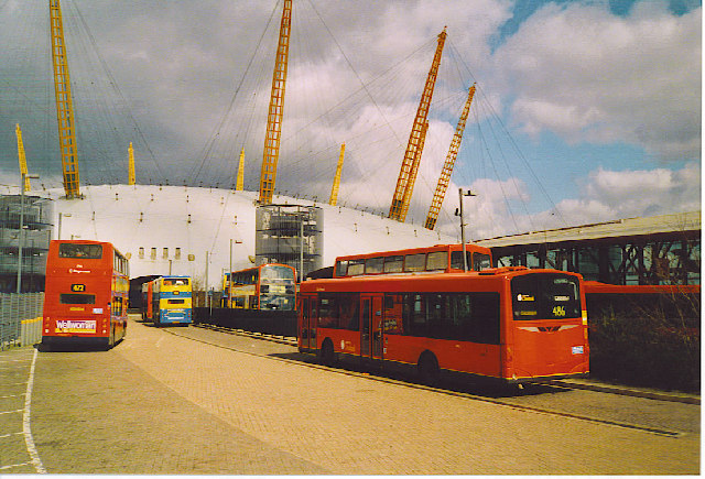 North Greenwich Bus Station, Millennium Dome.