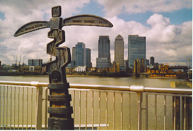 Milepost on the Greenwich Meridian, North Greenwich.