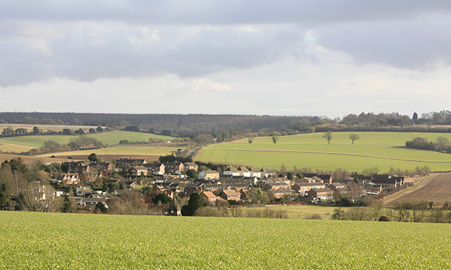 View of King's Somborne from Yew Hill