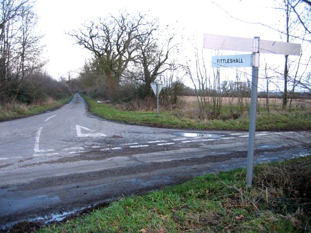 Road junction, Wellingham, Norfolk