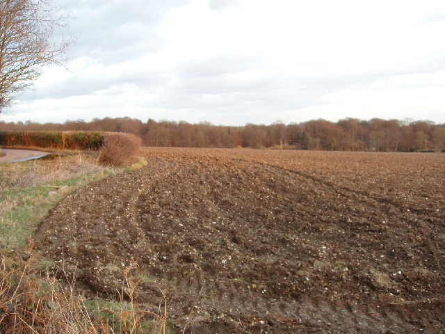 Ploughed field near Chenies