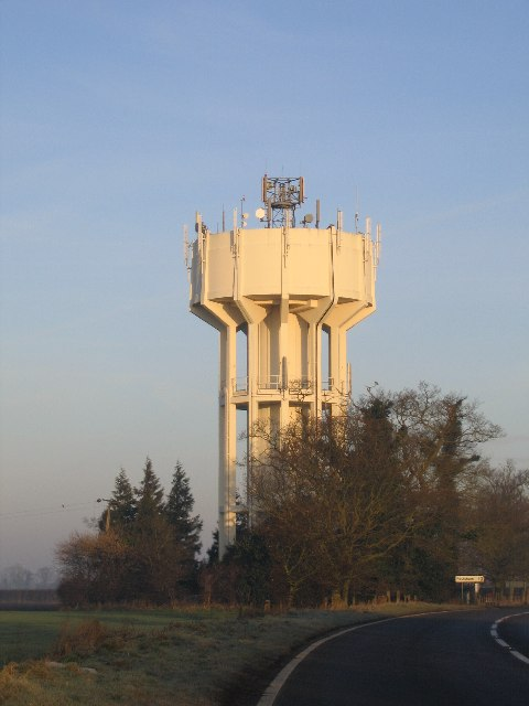 Water Tower next to A1067 south-east of Bintree
