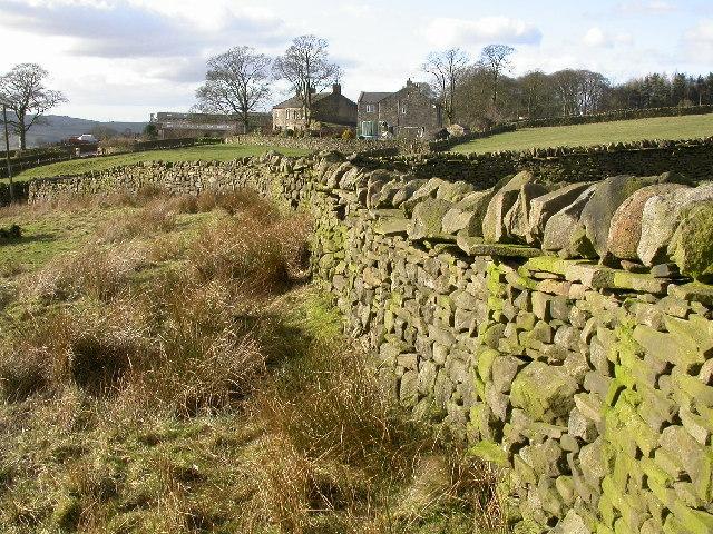 Dry Stone Wall at Langbar
