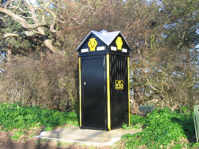 AA telephone box at Brancaster
