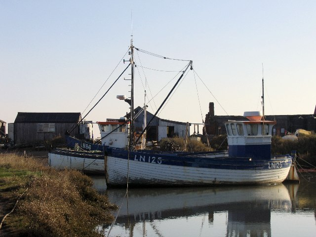 Fishing boats in Brancaster Staithe Harbour