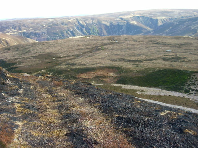 Moorland track near Daless