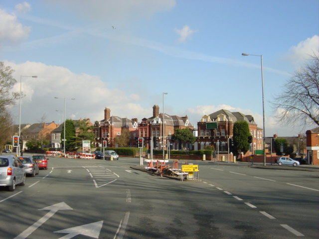 Toll Bar,  junction of Thatto Heath Road with Prescot Road