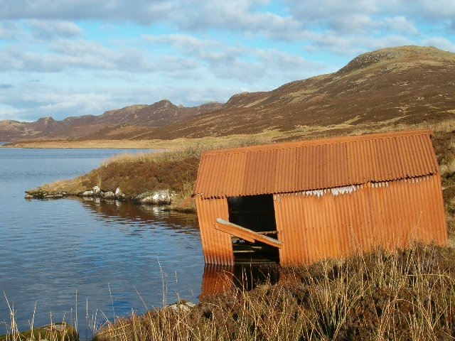 Boathouse on Loch Gainmheach
