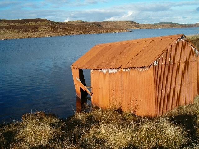 Boathouse on Loch Gainmheach