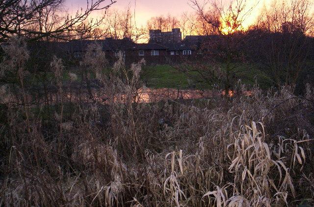 Fiery sunset, Huyton
