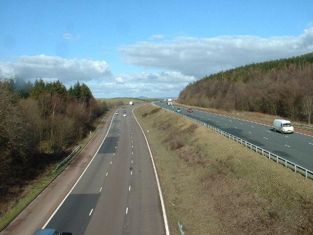 M6 Motorway near Endmoor