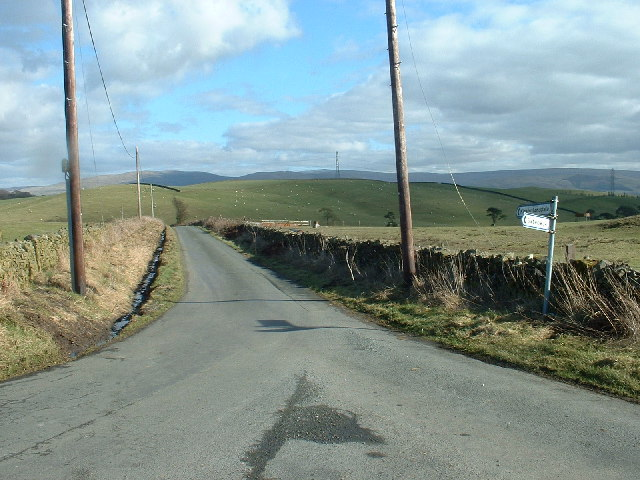 Road Junction at Warth Hill