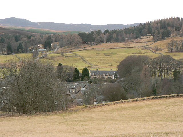 Kirkmichael from the north-east