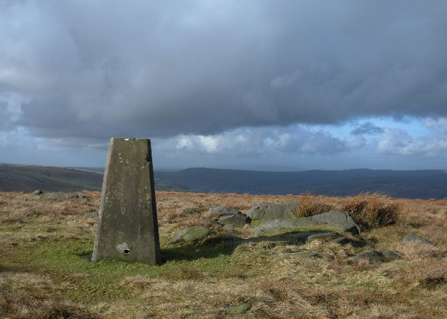 Trig Pillar on Hailstorm Ridge, above Bacup, 474m