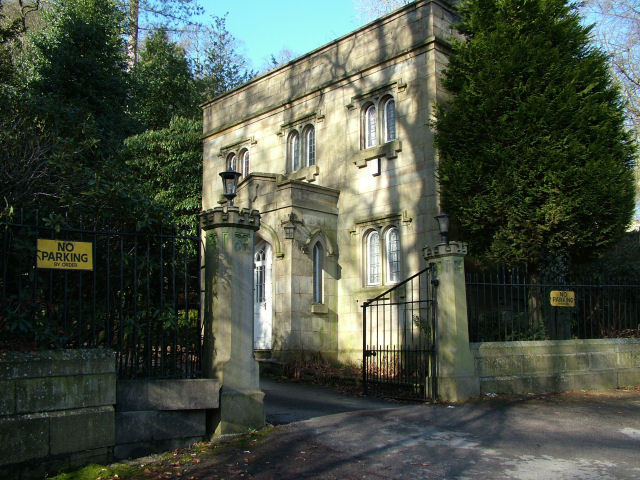 Gate house at entrance Crawshaw Hall