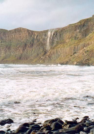 Talisker bay and waterfall