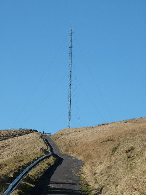 Radio mast on Hameldon Hill