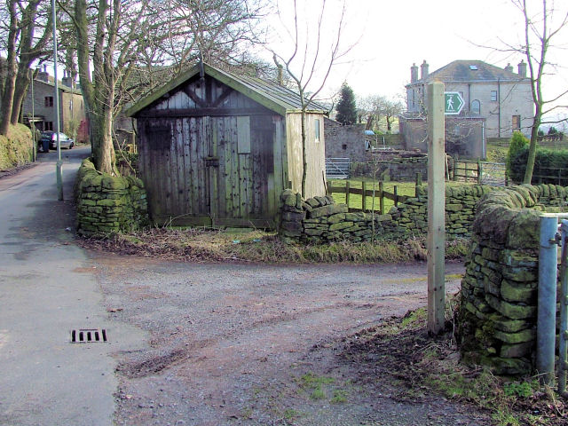 Old wooden garage