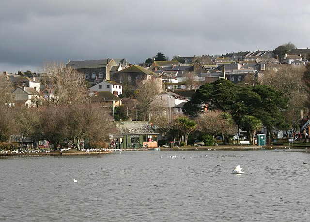 Helston from the ornamental lake