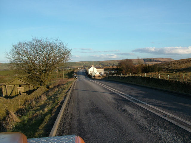 Looking down the B6236