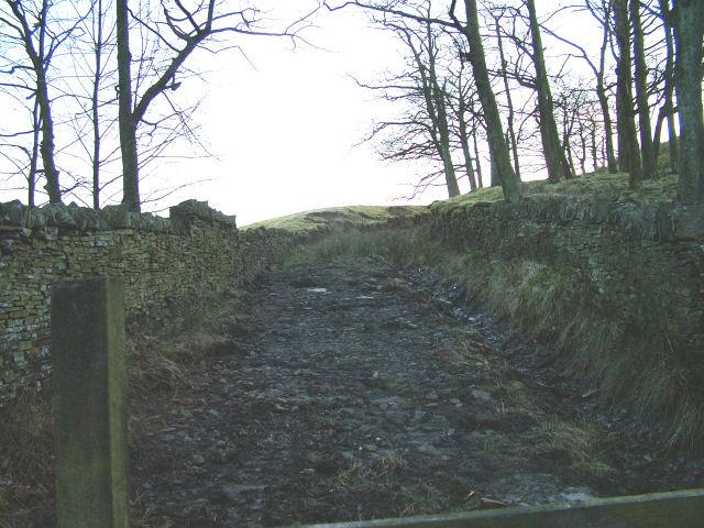 Start of walk at Calf Hey Reservoir