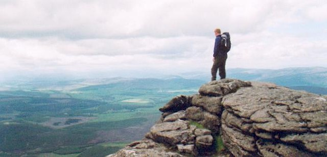 Ben Rinnes summit 840m