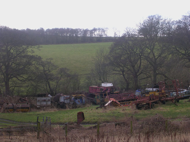 Agricultural graveyard, Salmon Hall, Howden-le-Wear